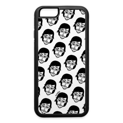 motif-logo-blanc - iPhone 6/6s Rubber Case