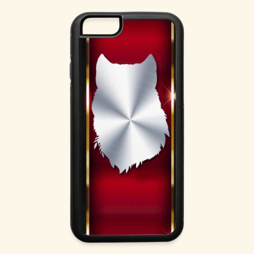 Wolf White Metallic iphone case - iPhone 6/6s Rubber Case