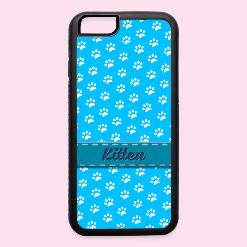 kitten collar blu - iPhone 6/6s Rubber Case