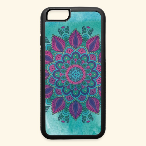 Vinatge Mandala Watercolor - iPhone 6/6s Rubber Case