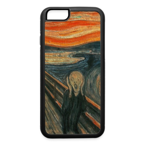The Scream (Textured) by Edvard Munch - iPhone 6/6s Rubber Case