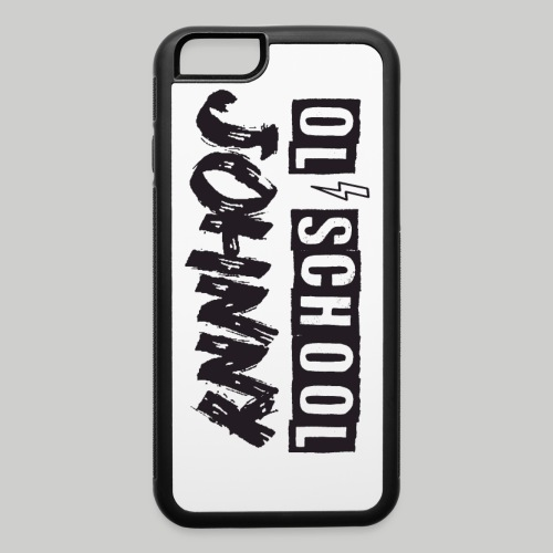 Ol' School Johnny Logo - Black Text - iPhone 6/6s Rubber Case