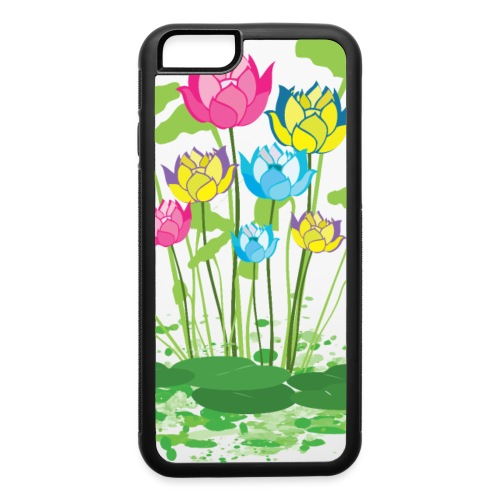 colorful waterlilies flowers - iPhone 6/6s Rubber Case