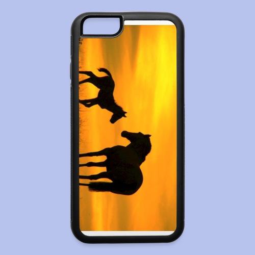 Relations between 2 Horses - iPhone 6/6s Rubber Case