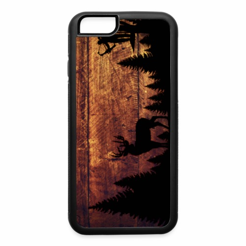 Dark Wood Bowhunter case - iPhone 6/6s Rubber Case