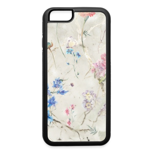 Sage Green Gold Marble Floral Flowers - iPhone 6/6s Rubber Case
