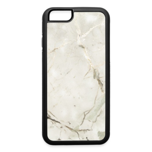 Soft Sage Green White Gold Marble - iPhone 6/6s Rubber Case