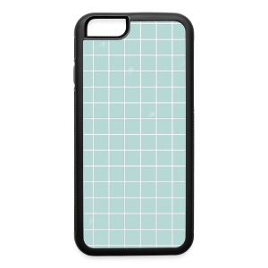 Blue Grid Phone Cases - iPhone 6/6s Rubber Case