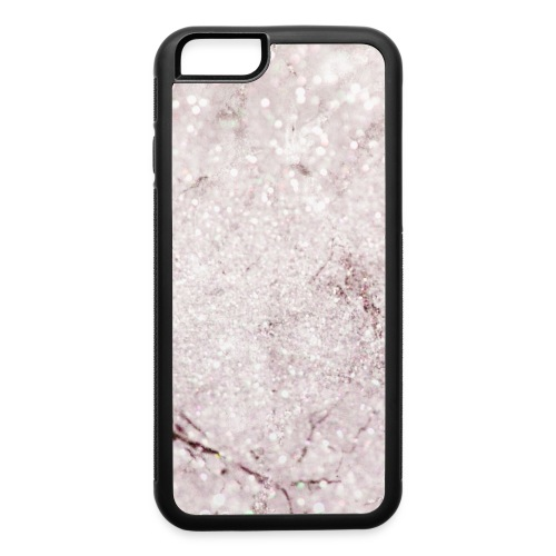Purple Lilac Glitter Marble - iPhone 6/6s Rubber Case
