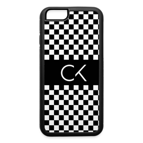 Conor Keating Case (Black Checkerboard) - iPhone 6/6s Rubber Case