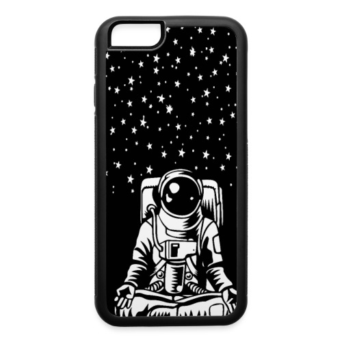 Astronaut in the lotus position, symbol of meditat - iPhone 6/6s Rubber Case
