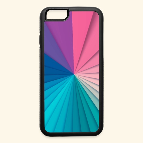 Simple and Elegant Ray of Colors - iPhone 6/6s Rubber Case