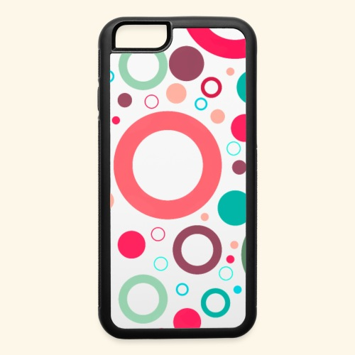 Simple Colorful Retro Circles - iPhone 6/6s Rubber Case