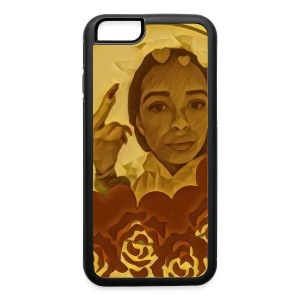 Phone Case- Gold Middle Finger - iPhone 6/6s Rubber Case