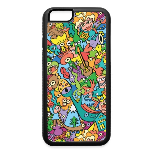 Crazy carnival full of color and cool characters - iPhone 6/6s Rubber Case