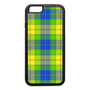 Yellow plaid - iPhone 6/6s Rubber Case