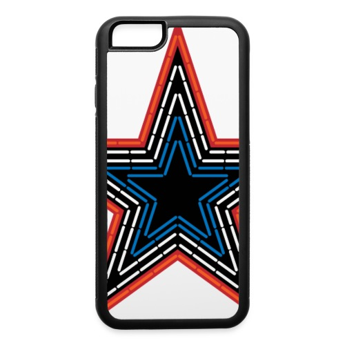 Roanoke Virginia Pride Mill Mountain Star - iPhone 6/6s Rubber Case