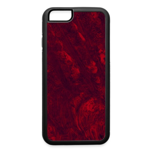 Oil Spill (crimson) - iPhone 6/6s Rubber Case