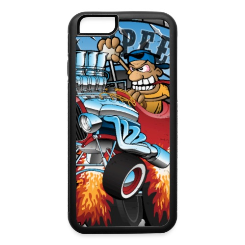 Custom Speed Shop Hot Rods and Muscle Cars Illustr - iPhone 6/6s Rubber Case