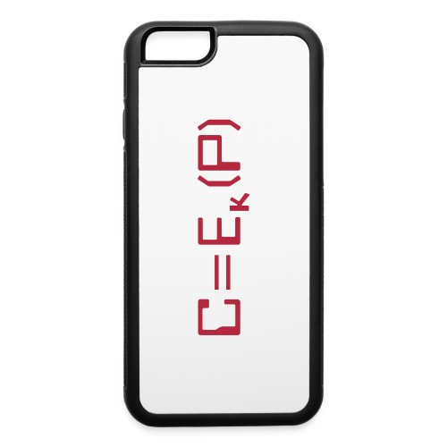 Ciphertext equals encrypted plaintext - iPhone 6/6s Rubber Case