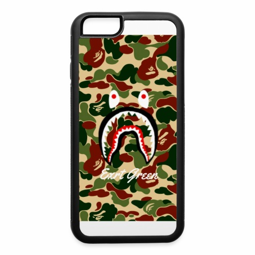 bape shark camo wallparer - iPhone 6/6s Rubber Case