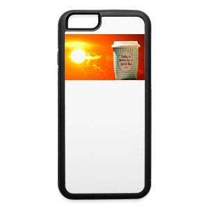 Good day coffee cup motivation message - iPhone 6/6s Rubber Case