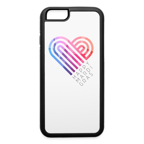 Mardi Gras Heart png - iPhone 6/6s Rubber Case