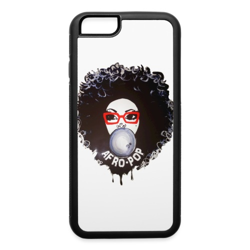 Afro pop_Global Couture Long Sleeve Shirts - iPhone 6/6s Rubber Case