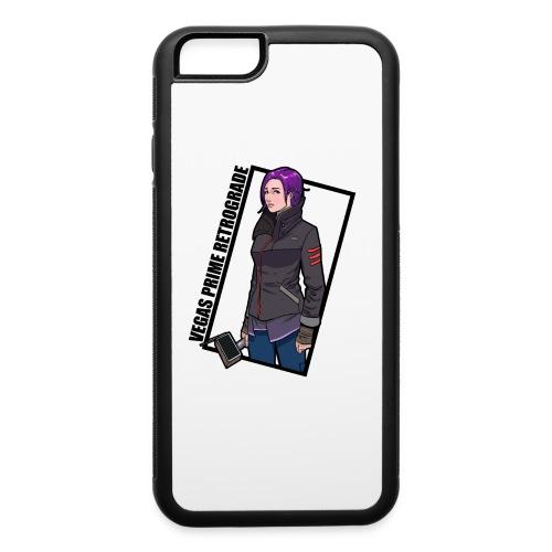 Vegas Prime Retrograde - Clara with Black Border - iPhone 6/6s Rubber Case