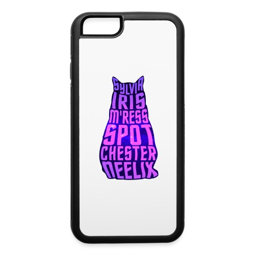 Trek Cats (pink and purple letters) - iPhone 6/6s Rubber Case
