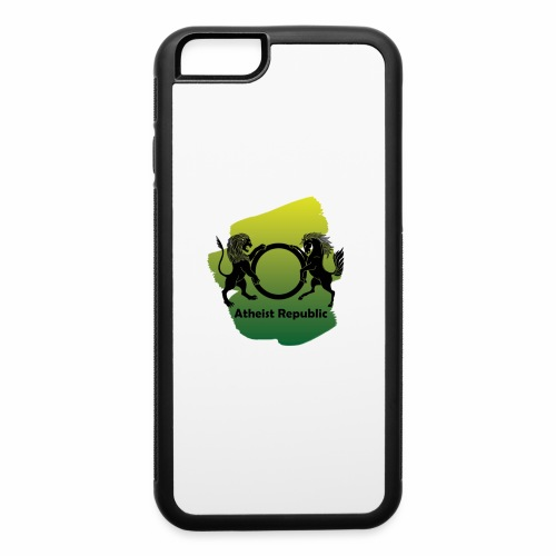 Atheist Republic Logo - Yellow & Green Paint - iPhone 6/6s Rubber Case