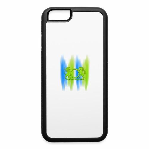 Atheist Republic Logo - Blue & Green Stripes - iPhone 6/6s Rubber Case