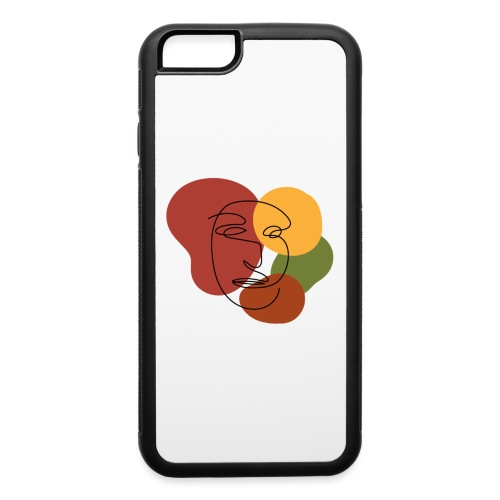 abstract minimalist face - iPhone 6/6s Rubber Case