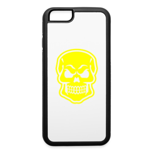 Skull vector yellow - iPhone 6/6s Rubber Case
