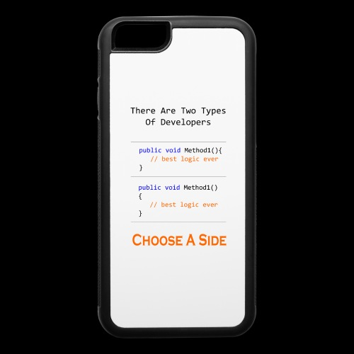 Code Styling Preference Shirt - iPhone 6/6s Rubber Case