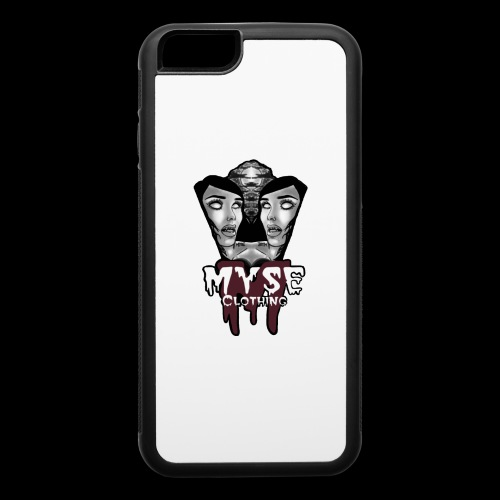 Myse clothing logo with vampire - iPhone 6/6s Rubber Case