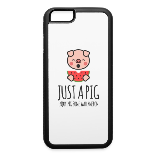 Just A Pig Enjoying Some Watermelon - iPhone 6/6s Rubber Case