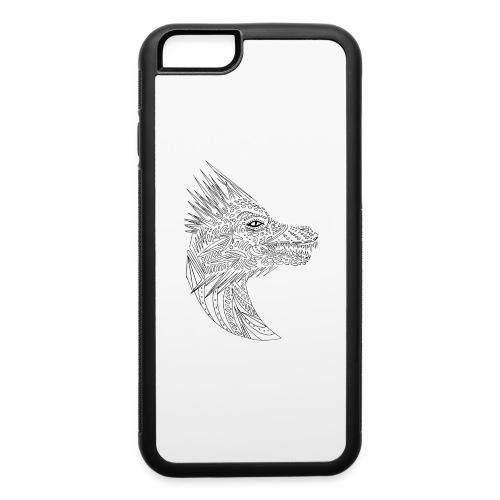 black art deco dragon head - iPhone 6/6s Rubber Case