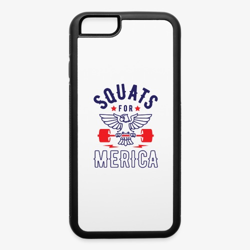 Squats For Merica v2 - iPhone 6/6s Rubber Case