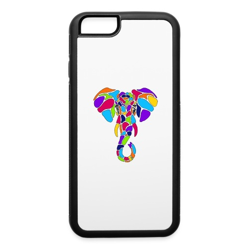 Art Deco elephant - iPhone 6/6s Rubber Case