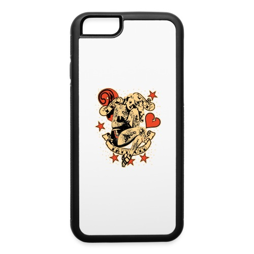 Screwed & tattooed Pin Up Zombie - iPhone 6/6s Rubber Case