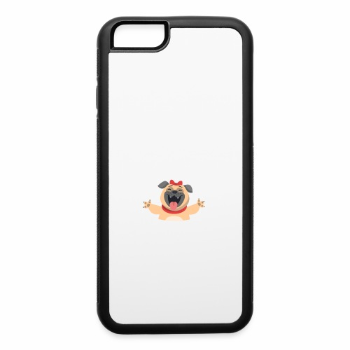 In love with my PUG - iPhone 6/6s Rubber Case