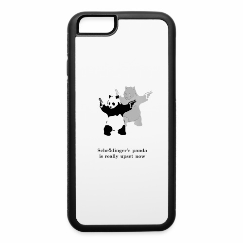 Schrödinger's panda is really upset now - iPhone 6/6s Rubber Case
