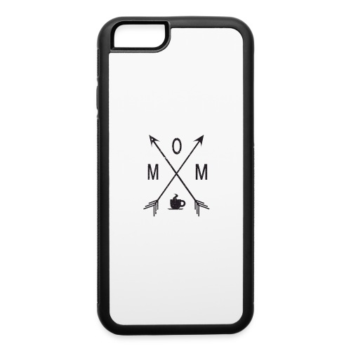 Mom Loves Coffee (black ink) - iPhone 6/6s Rubber Case