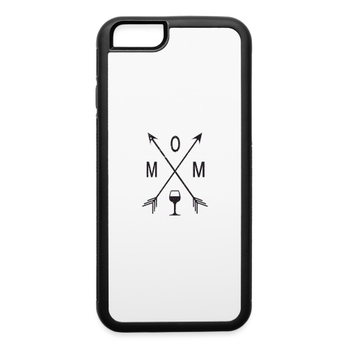 Mom Loves Wine (black ink) - iPhone 6/6s Rubber Case