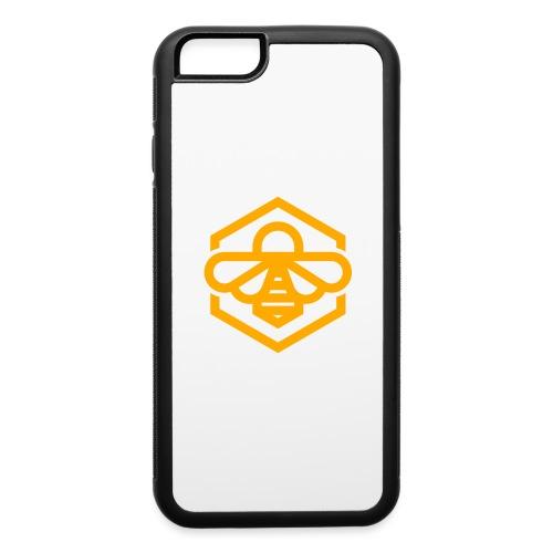 bee symbol orange - iPhone 6/6s Rubber Case