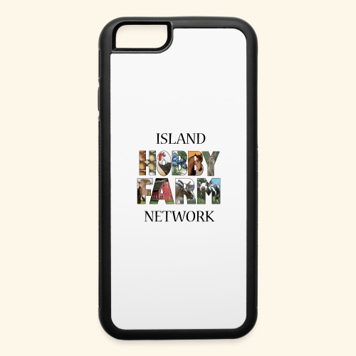 Island Hobby Farm Black Logo - iPhone 6/6s Rubber Case