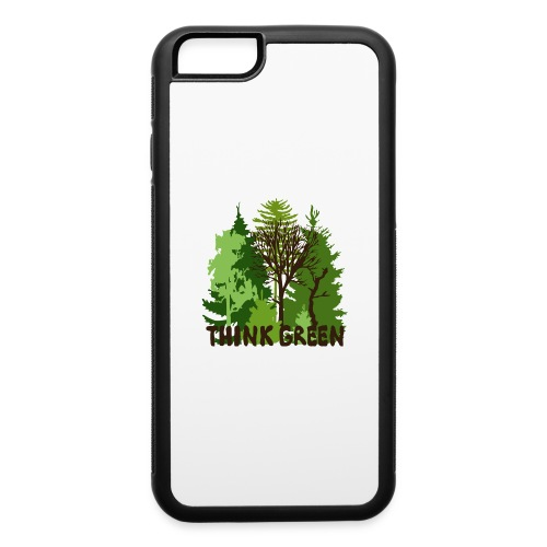 EARTHDAYCONTEST Earth Day Think Green forest trees - iPhone 6/6s Rubber Case