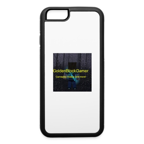 GoldenBlockGamer Tshirt - iPhone 6/6s Rubber Case