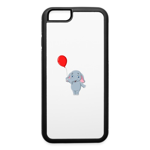 Baby Elephant Holding A Balloon - iPhone 6/6s Rubber Case